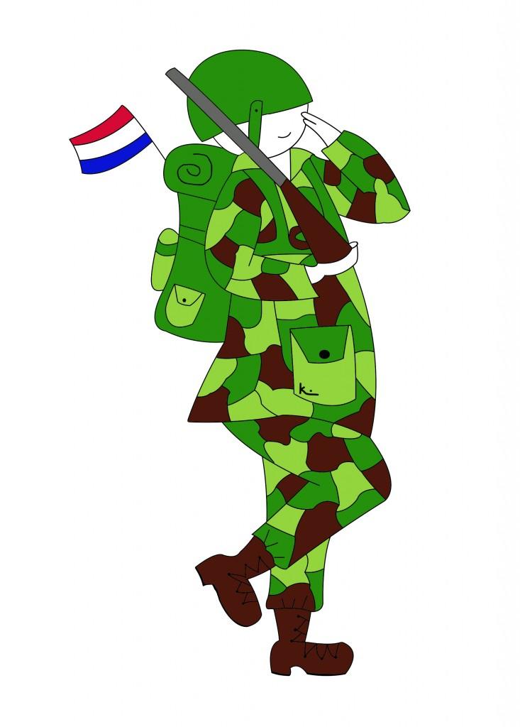 soldaten op bivak de verkleedkist arnhem