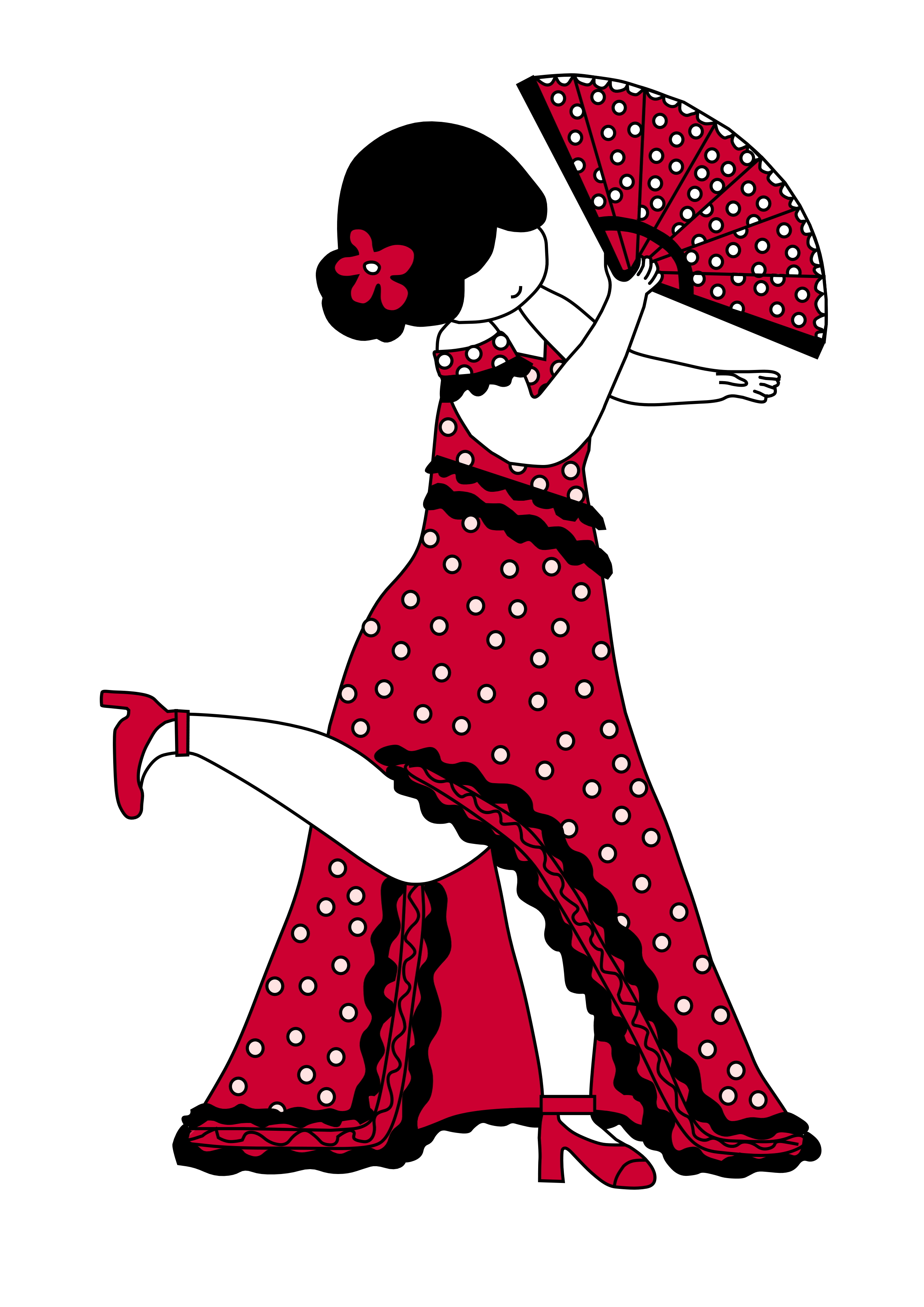 Spaanse danseres tekening