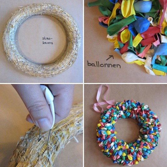Ballonnenkrans de verkleedkist arnhem for Ballonnen versiering zelf maken